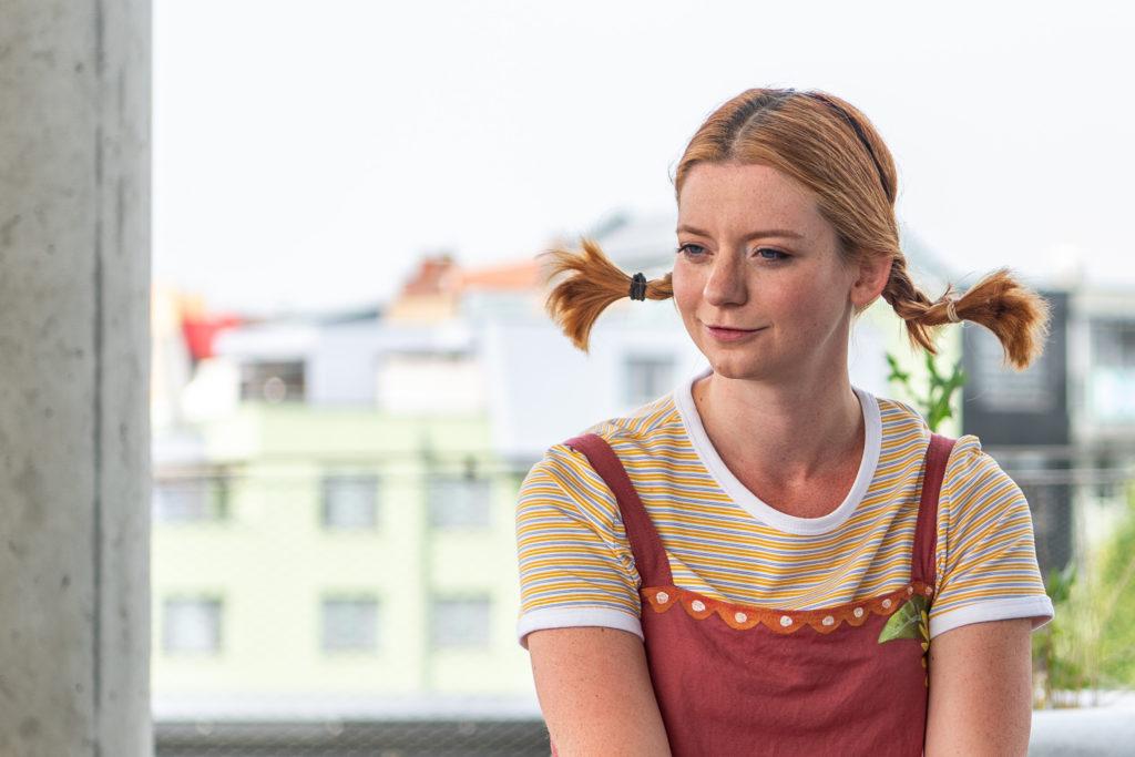 """Schauspielerin Simone Leski schlüpft im Kindertheater """"Next Liberty"""" in die Rolle der Pippi"""